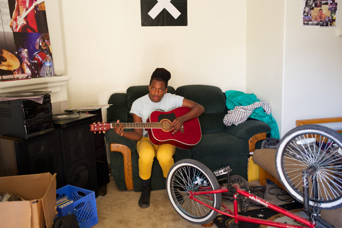 Shamir at home in North Las Vegas on Thursday, April 23, 2015.
